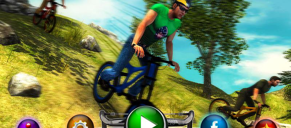 Uphill Offroad Bicycle Rider image