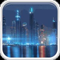 Dubai na noite Papel de Parede